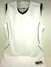 Eastbay, Evapor, Super Court Game Jersey, White/Green, Medium, Discolored