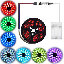 5V 5050 RGB led strip light colour changing USB battery TV PC backlight lighting