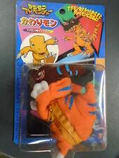 "Digimon Greymon Graymon Gray man Agumon 5"" Plush Bandai Japan Evolving Zipper"