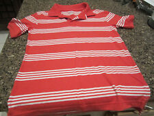 Cherokee Youth Polo Shirt - Red/White - Youth Large - (12-14)