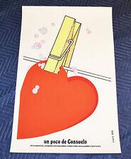 """1986 Original Cuban SilkscreenMovie Poster""""Un poco de Consuelo""""A Heart to dry"""