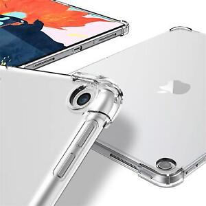 Tasche für Apple iPad Hülle Klar Transparent Schutz TPU Silikon Cover Bumper