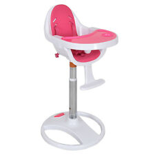 Pink Pedestal Baby High Chair Infant Durable Feeding Dining Table Safety Seat