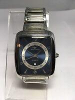Tavan Men's Watch Silver Blue Tone Dial Date All Stainless Steel