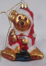 Boyd Bears glass 5'' Christmas ornament 1997-98 The glass Smith Collection Iob