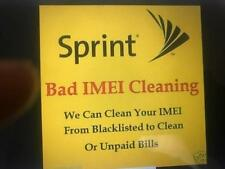 Sprint - BAD IMEI CLEANING [Apple 5c-6s+ ANDROID   ANY DEVICE -Unpaid bills/Lost
