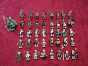 41 Lego Castle Ritter Figuren Konvolut alle mit Waffen und Helm, Sammlung, Kg
