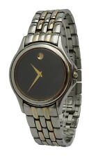 Vintage Movado Museum Mens Two Tone Stainless Steel Swiss 35mm Rare Watch