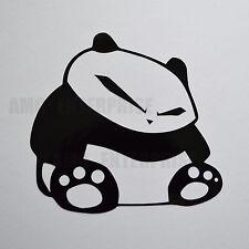 Insignia De Vinilo Pegatina Calcomanía Negra Panda para coches Scooters Motos Quads portátiles