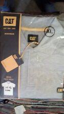CAT Caterpillar Travail Polo T Shirt à manches courtes 100% Coton Gris Extra Large