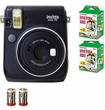 Bundle: Fuji Instax Mini 70 Instant Camera Black+ 40 Films+2x CR2 Battery