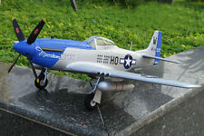 TOP P-51D Blue Mustang RC Airplane Remote Control Plane Model KIT Version hot