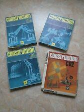 4 Metallbaukasten Construction DDR Konvolut