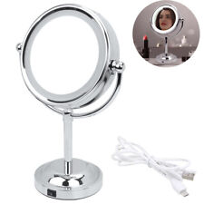 Led Lighted Makeup Mirror Beauty Cosmetic 3X Magnifying Double Side for Home Use