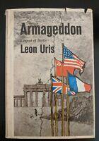 ARMAGEDDON Leon Uris 1964 First Edition Stated 1st Printing HCDJ