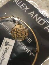 48d3b208f NEW 2015 Disney Parks Alex and Ani Mickey Mouse Gold Tone Bangle Charm  Bracelet