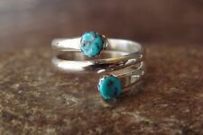 Navajo Jewelry Sterling Silver Turquoise  Adjustable Ring! Yolanda Skeets