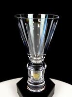 """DOROTHEENHUTTE CRYSTAL WEST GERMANY 2 PART CONICAL 6 5/8"""" WATER GLASS"""