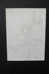 FRENCH NEOCLASSICAL SCHOOL 19thC - FIGURE STUDY - PENCIL DRAWING