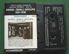 Swing Small Groups 1931/6 Vol 10 Fats Waller Teddy Wilson + Cassette Tape TESTED
