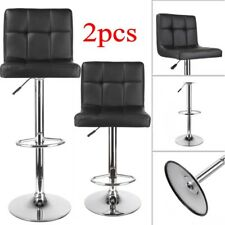 2*FAUX LEATHER KITCHEN BREAKFAST BAR STOOL BARSTOOLS SWIVEL STOOLS + SPARE PARTS