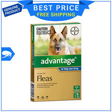 ADVANTAGE for Extra Large Dogs Over 25 Kg 6 Pipettes BLUE Flea Treatment