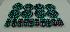 Sterling Silver Belt Loop Covers Vintage Robert Lee Morris Turquoise