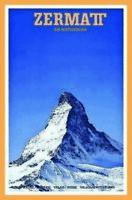 Zermatt am Matterhorn Wallis Schweiz Blechschild Schild Tin Sign 20 x 30 cm