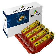 4 Yellow Ink Cartridges For Canon Pixma IP4850 IP4950 IX6250 IX6550