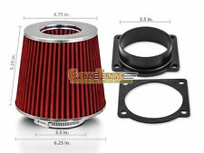 Mass Air Flow Sensor Intake Adapter + RED Filter For 95-03 Mazda B4000 4.0L V6