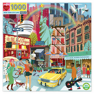 eeBoo New York City Life 1000pc Square Jigsaw Puzzle