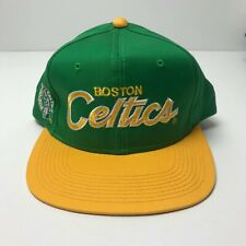 Vintage Boston Celtics Sports Specialties Script Snapback Hat 90s New
