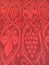 Vintage Wallpaper Red Vines Grapes Wine by Clarence House