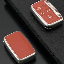 Brown Smart Key Fob Case Cover For Lange Rover Discovery Range Rover Lr4 Jaguar Fits More Than One Vehicle