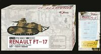 Flyhawk 1/72 FH3001 French FT-17 Light Tank Riveted Turret (1+1)