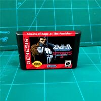 Punisher In Streets of Rage 2 - Sega Genesis Mega Drive Game Cartridge