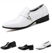 Large Size Mens Dress Formal Faux Leather Shoes Pointy Toe Oxfords Slip on New L