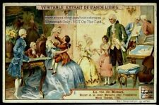 Mozart Playing For Empress Maria Theresa 1762 Age 6  1906 Trade Ad  Card