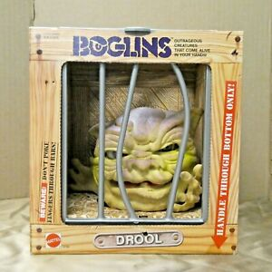 Vintage 1987 Boglins Drool Monster Hand Puppet Mattel Mint In Box