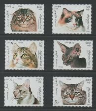 Thematic Stamps Animals - AFGHANISTAN 1997 CATS SET OF 6 mint