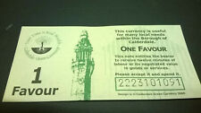 More details for 1 favour calderdale local currency banknote - unissued - black serial number
