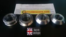 Yamaha R6  2003 2004 2005 Supersport captive wheel Spacers. SILVER