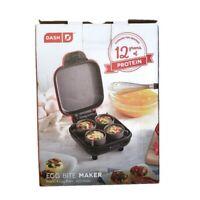 DASH Egg Bite Maker Fast Heating w/ 4 Silicone Molds & Recipe Guide RED 420 Watt