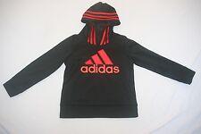 Adidas Hoody Sweat Shirt Youth Kids 5 Black NEW