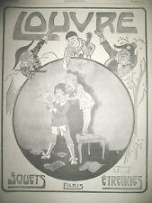 PUBLICITE DE PRESSE AU LOUVRE MAGASIN JOUETS ETRENNES ILLUSTRATION ROOWY AD 1917