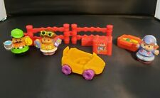 Little People Zoo Keeper w Yellow Car, Pilot, Tourist, Red Fencing Suitcase Food