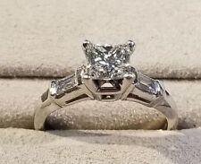 Ring For Women In 925 Silver 3.60Ct White Princess Moissanite Designer Wedding