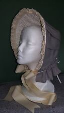 Clearance Save 40% Civil War Reenactment Dress Lavendar Bonnet Was $175 Now $105
