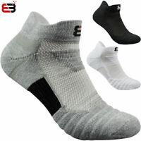 3pair Men's Athletic Low Cut No Show Socks Ankle Length Sock Cotton Socks 1 size