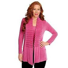 NEW - Affinity for Knits Long Sleeved Pinch Pleat Detail Open Cardigan M
